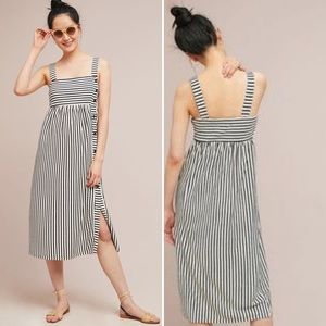 Anthropologie Maeve Fiona Striped Midi Dress